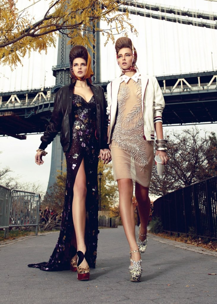 while we were dreaming by henry klobaczewski7- miu miu sequined embellished dresses and varsity jackets