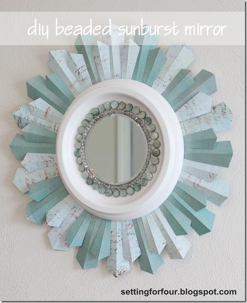 Beaded Mirror DIY