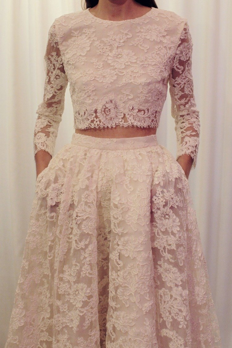 Bridal Full Skirt and Cropped Top