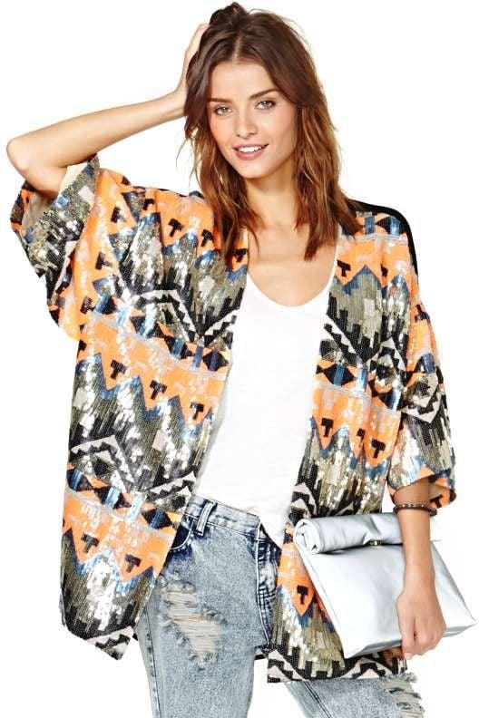 Tribal Sequin Kimono