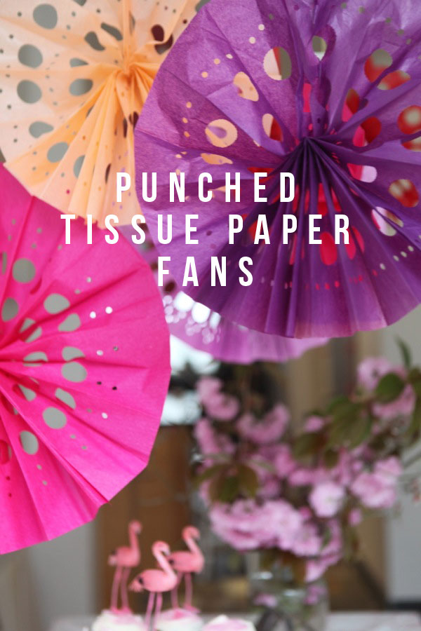 Punched Paper Fan from Oh My Creative