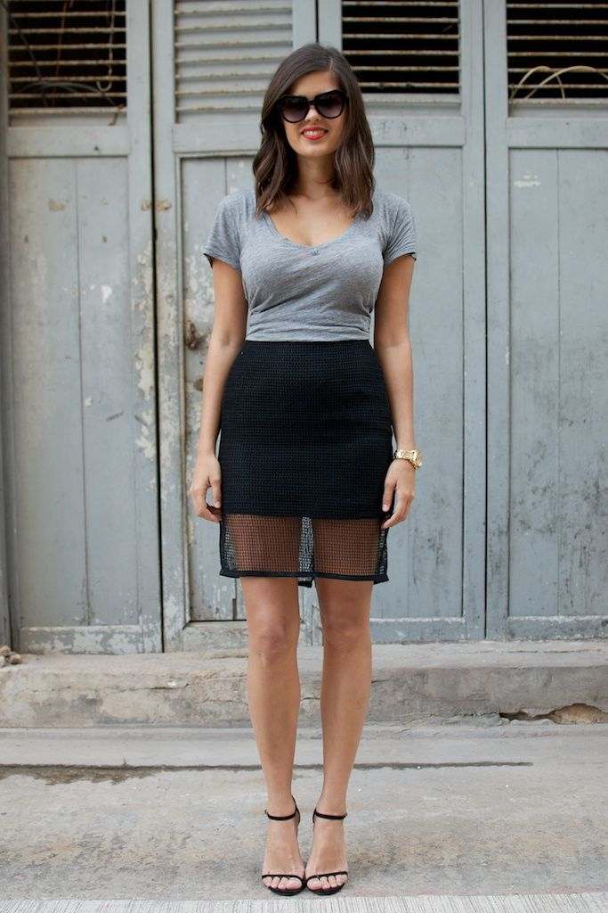 Mesh Skirt from A Pair and A Spare