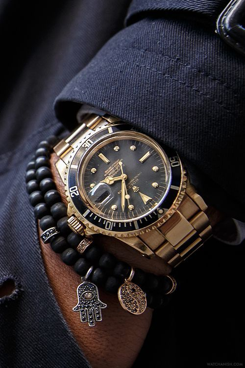 Rolex Watch with Beaded Bracelets