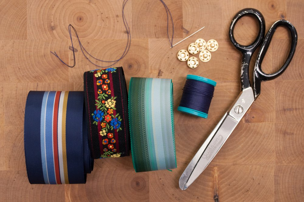 Materials for DIY Bowties