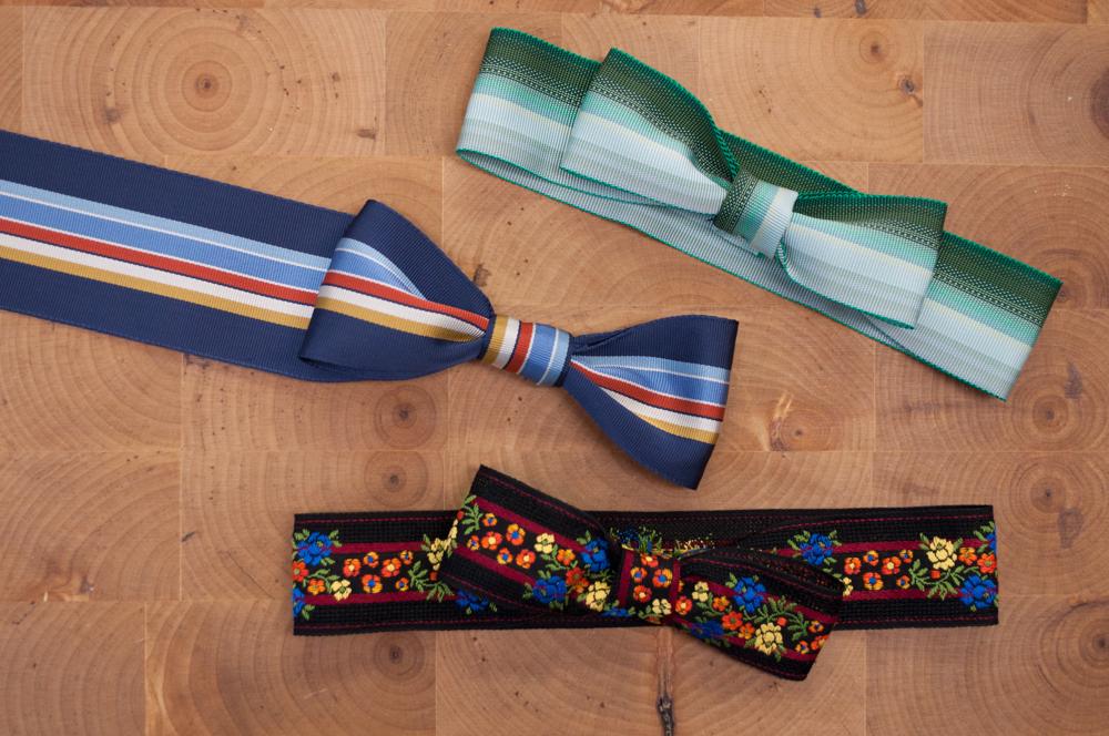 Completed Grosgrain Bow Ties