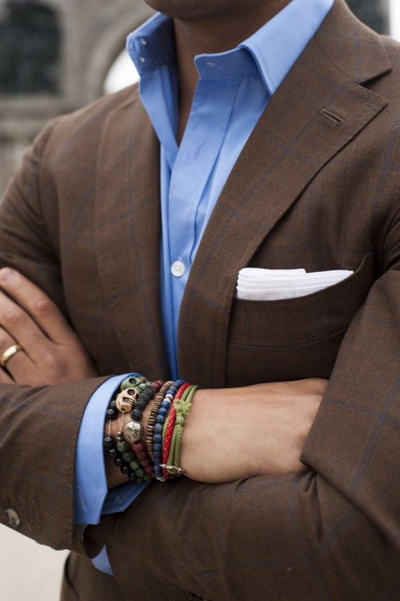 Bracelets with Jacket on Man