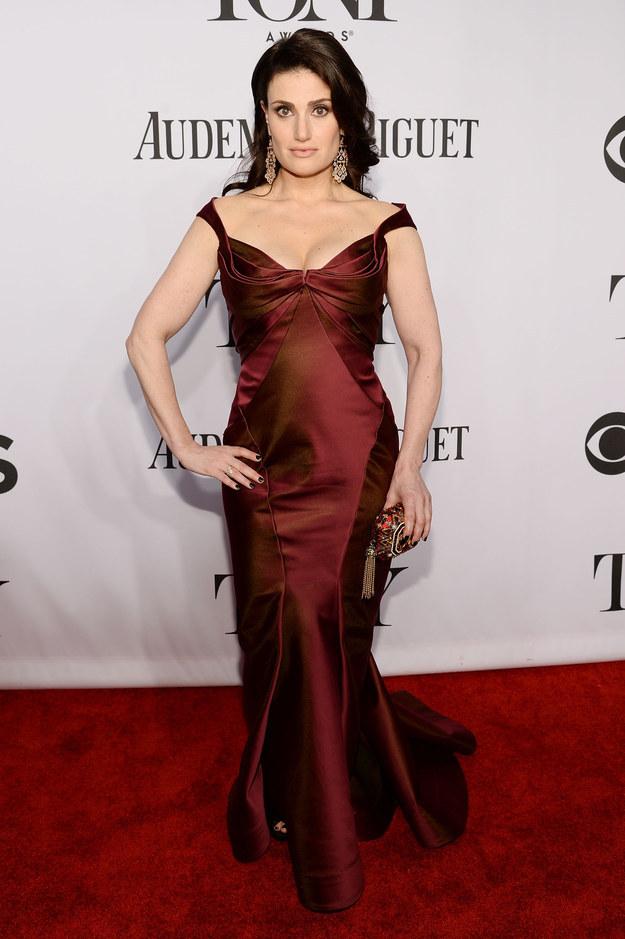 Idina Menzel at the 2014 Tony Awards