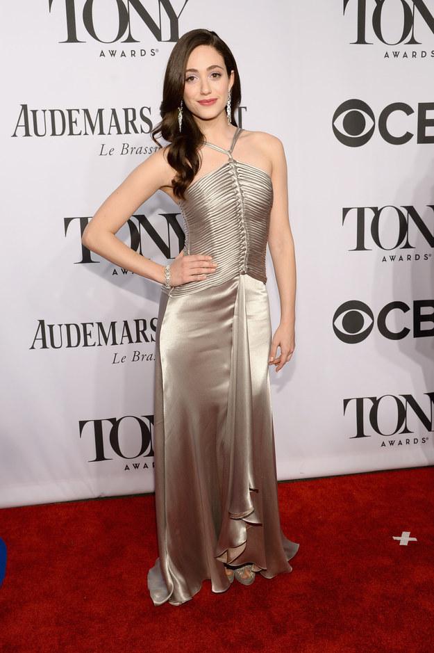 Emmy Rossum at the 2014 Tony Awards