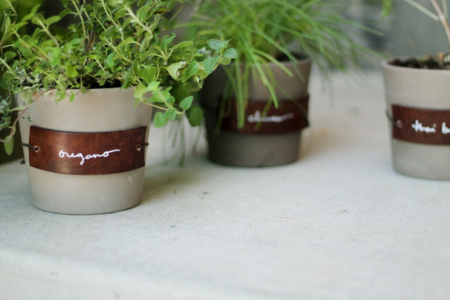 Leather Herb Labels