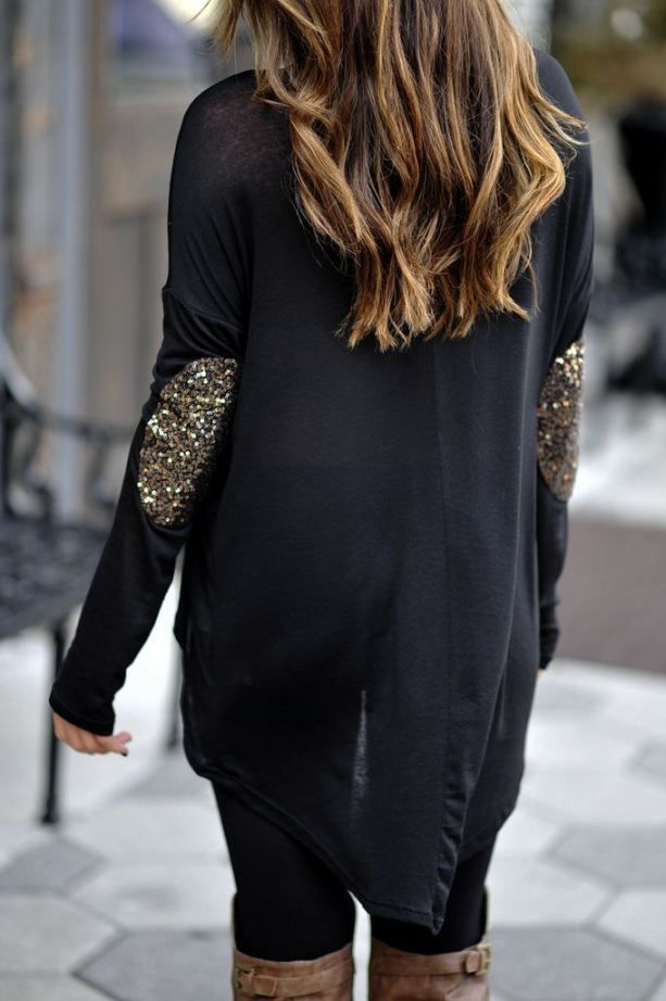 Sequin Patched Shirt