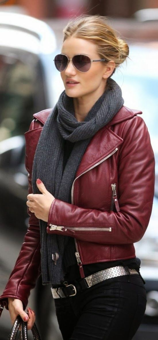 M&J Trimming - Red Leather Jacket