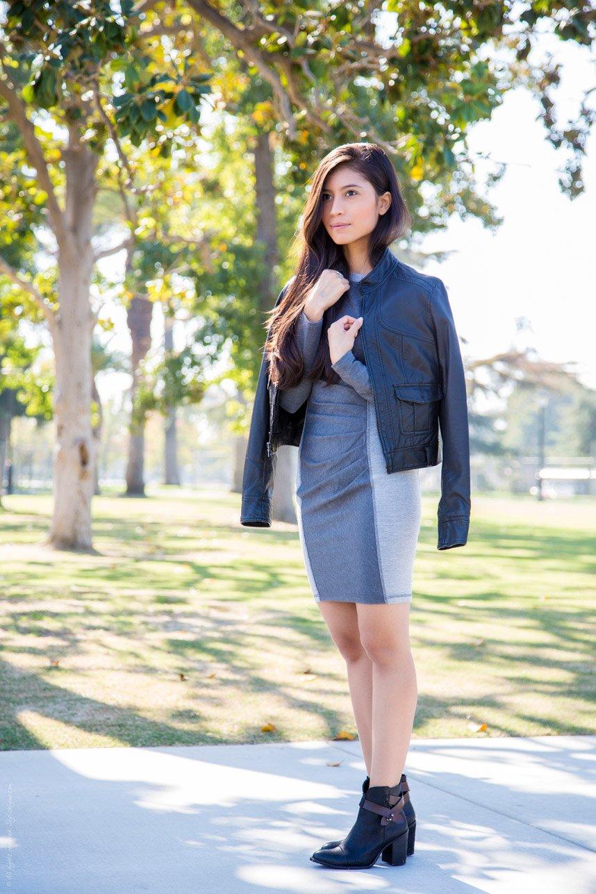 M&J Trimming - Grey Dress+Black Booties