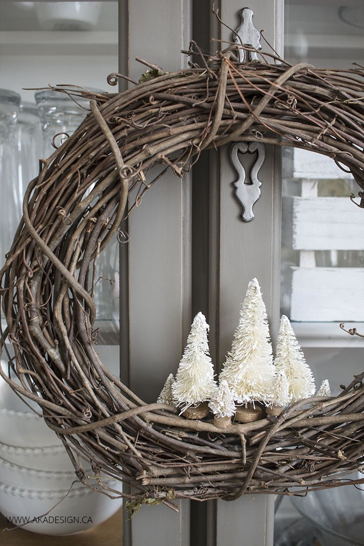 Branch and Bottle Brush Wreath
