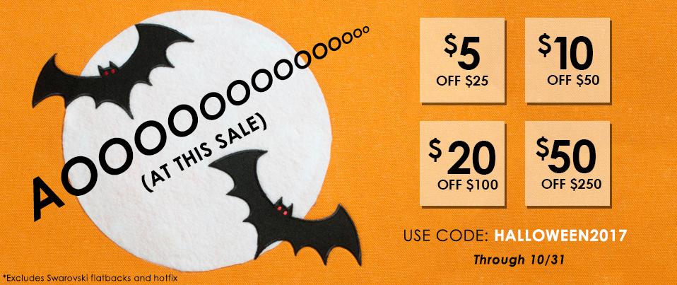 Halloween Tiered Sale