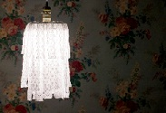 Our latest DIY: Lace Chandelier
