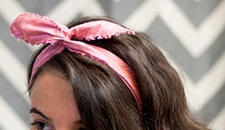 Our latest DIY: Wired Silk Headband