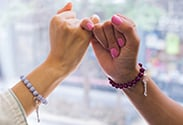 Our latest DIY: Beaded Friendship Bracelets