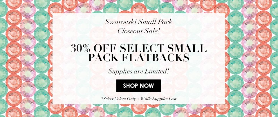 30% Off Swarovski Promotional Colors