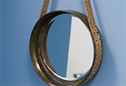 Our latest DIY: Leather Sailor Mirror