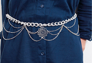 Our latest DIY: Floral Medallion Chain Belt
