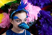 Our latest DIY: Feathered Headband and Beak