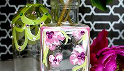 Our latest DIY: Brilliance Embellished Blossom Bottle