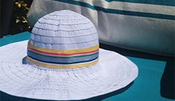 Our latest DIY: Beach Hat