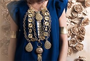 Our latest DIY: Gilded Goddess Statement Necklace