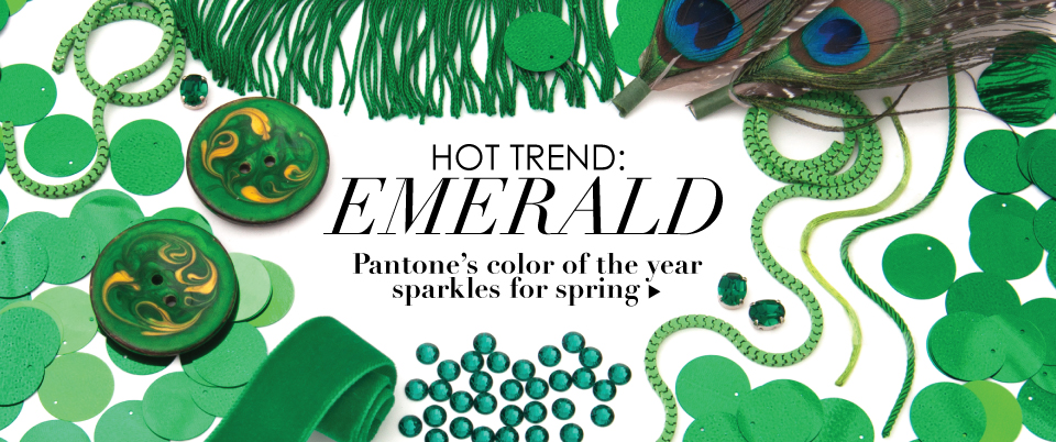 03/12/03_Featured Store: Color of the Year Emerald