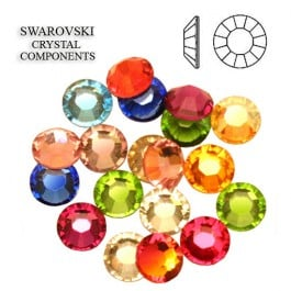Assorted Colors Swarovski Flatback Rhinestones