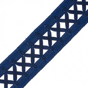 "1 1/8"" SATIN CRISS CROSS RIBBON"