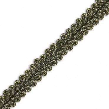 "3/8"" IMPORTED FINE METALLIC BRAID"