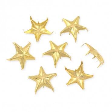23MM RAISED STAR NAILHEADS - LARGE PACK