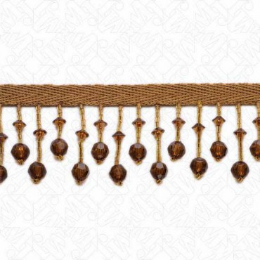 "1 3/4"" FACETED BEADED FRINGE"