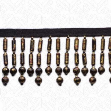 "2.5"" MARBLEIZED BEADED FRINGE (Default)"