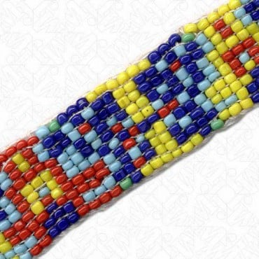 "3/4"" NATIVE AMERICAN BEADED TRIM - MULTI"