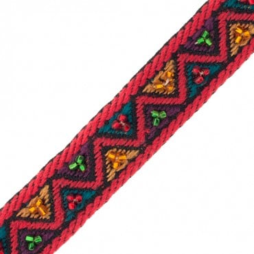 17mm Beaded Jacquard Ribbon