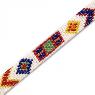 "5/8"" 9 ROW INDIAN BEADED TRIM"