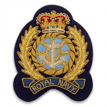 "3.25"" x 2.5"" ROYAL NAVY CREST - DKNAVY/GOLD MULTI"