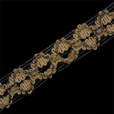 "1"" IMPORTED JUTE KNIT BRAID - BROWN/NATURAL"