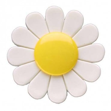PLASTIC DAISY BUTTON