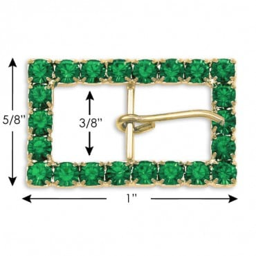 """5/8"""" x 1"""" R.S. BUCKLE W/ PRONG"""