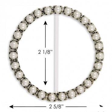 "2 5/8"" (66mm) Round Pearl Buckle"