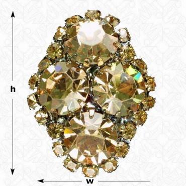 Diamond Cluster Rhinestone Button