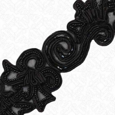 "2.25"" SOUTACHE BEADED TRIM"