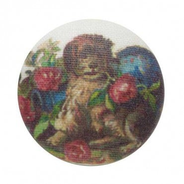 DOG & ROSE BUTTON