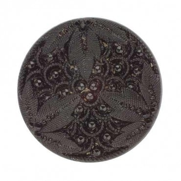 GLASS FLORAL FASHION BUTTON