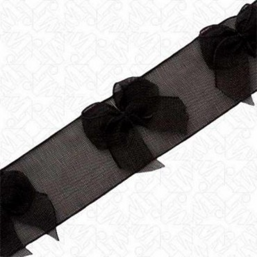 "3/4"" ORGANZA RIBBON WITH BOWS"