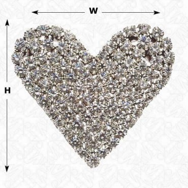 Rhinestone Heart Button