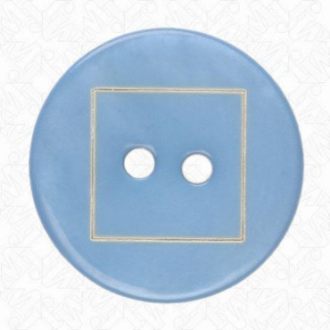 SHELL BUTTON W/SQUARE MOTIF
